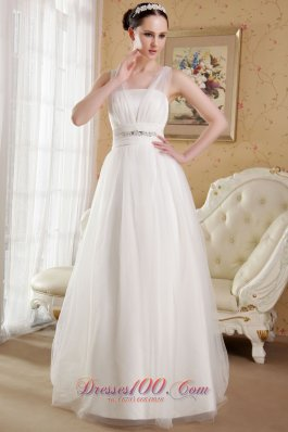 Perfect V-neck Wedding Gowns Brush Train Gilding Tulle