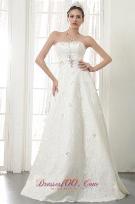 Princess Floor-length Lace up Wedding Dress Gilding
