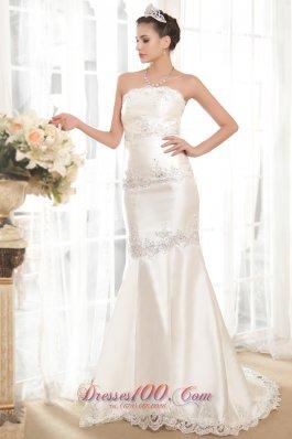 Exclusive Mermaid Lace Wedding Gowns Taffeta Beading