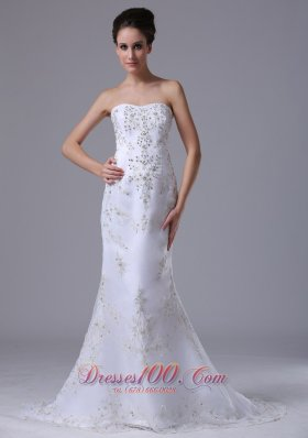 Beaded 2013 Wedding Dress Sweetheart Mermaid Court Train