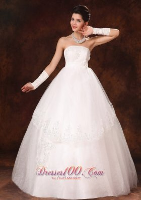 Designer Ball Gown Appliques Church Wedding Dress Winter