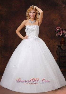 Sheath Bodice Empire Ball Gown Wedding Dress Flowers
