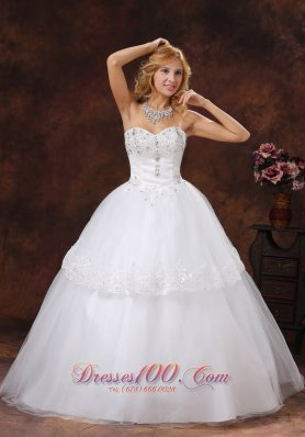 Beading Embroidery 2013 Wedding Gowns Sweetheart Layer