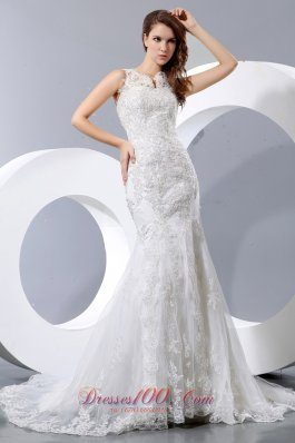 Discount Mermaid Lace Wedding Gowns Court Train