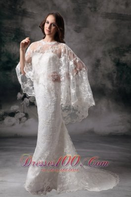 Trendy Lace Sweetheart Brush Train Wedding Dress