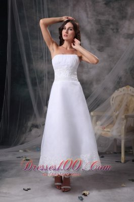 Column Beading Satin Ruched Beach Wedding Dress