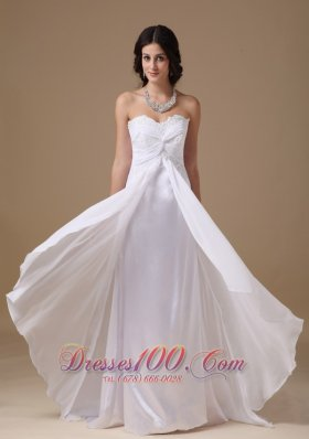 Ruched Sweetheart Chiffon Lace Wedding Dresses