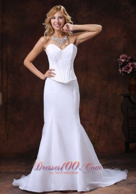 Mermaid Court Train Wedding Bridal Dress Sweetheart