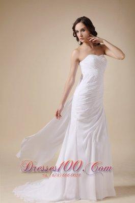 Elegant Classic Chiffon Beach Latest Wedding Gowns