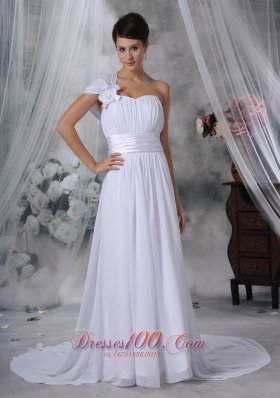 A-line Sweetheart Wedding Dress With Satin Sweetheart