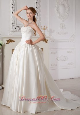 Exquisite A-line Sweetheart Wedding Dress Taffeta
