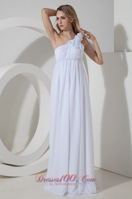 Elegant Empire Floral Floor-length Chiffon Bridal Gowns