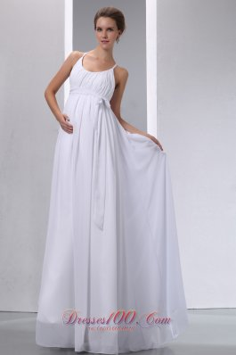 Elegant Classy Scoop Wedding Dress Chiffon Ruches