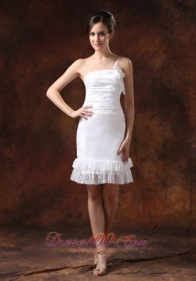 Affordable Taffeta Strapless Knee-length Wedding Dress