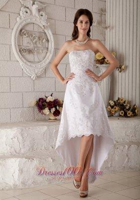 Unique A-line Princess Scoop Lace Belt Wedding Dress