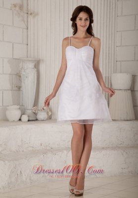 Cute A Line Princess Straps Mini Length Wedding Dress