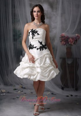 High-class A-line Strapless Cocktail Prom Dress Taffeta