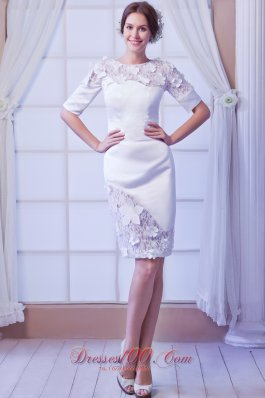 White Latest Embroidery Mother of the Bride Dress