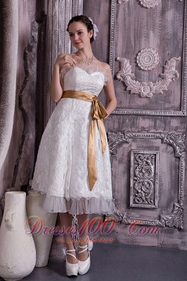 Column Sheath Sweetheart Short Wedding Gown Dress