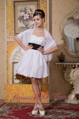 A-line Sweetheart Taffeta Sash Sexy Wedding Dress