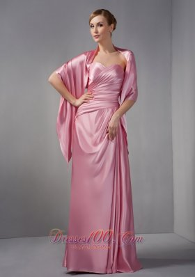 Rose Pink Mother Of The Bride Dress Sweetheart Ruch