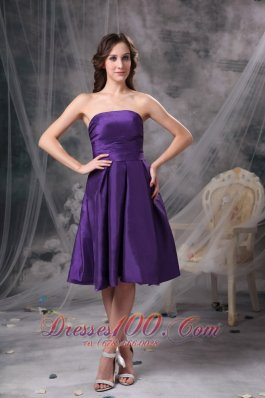 Eggplant Purple Empire Bridesmaid Dress Under 100