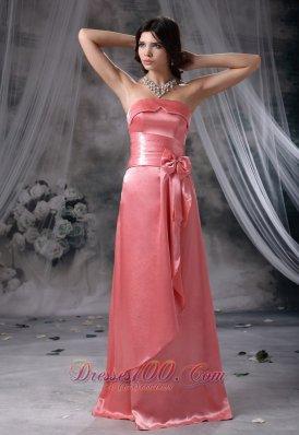 Beaded Bust Strapless Taffeta Prom Evening Dress
