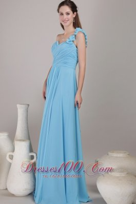 Empire Floor-length Chiffon Ruched Bridesmaid Dress