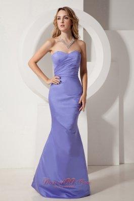 Taffeta Mermaid Sweetheart Lilac Ruching Homecoming Dress