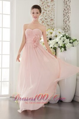 Misty Rose Empire Prom / Evening Dress Sweetheart 3D Flower