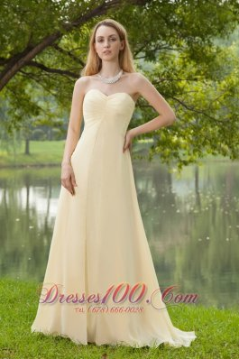 Champagne Empire Bridesmaid Maxi Dress Sweetheart Plus Size