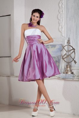 Lavender and White Bridesmaid Dress Empire Under 100
