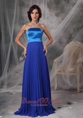 Royal Blue Elegant Dress for Maid of Honor Empire Ruching - US$155.28