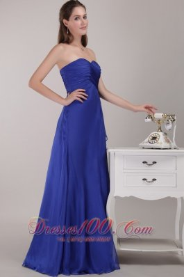 Royal Blue Bridesmaid Formal Dress Empire Fashion Color
