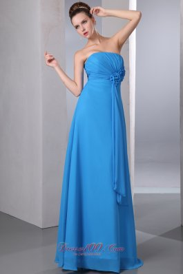 Aqua Blue Empire Formal Dress for Homecoming Pleats