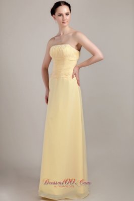 Light Yellow Sheath Dress for Maid of Honor Custom Color