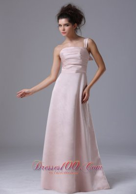 Blush Pink One Shoulder 2013 Prom Dress Ruching Column