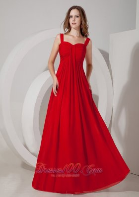 Dark Red Empire Straps Maxi Dress for Prom Occasions