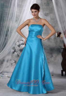 Beaded Strapless Aqua Blue Prom Formal Wears 2017