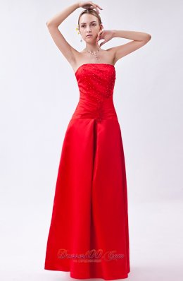 Beaded Bright Red Homecoming Dress in Wrapped Style