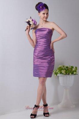 Ruch Lavender Column Prom Homecoming Dress Tea-length
