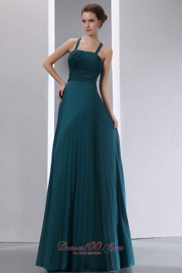 Peacock Green Mother Of The Bride Dress Empire A-line Ruch