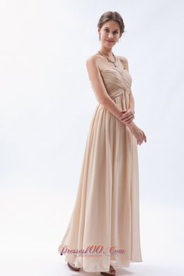 Empire Sweetheart Chiffon Champagne Bridesmaid Dress