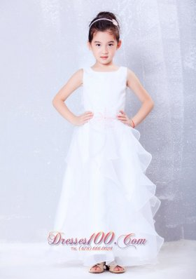 Discount A Line Scoop Girls Dress Ankle Length Organza