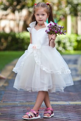 Cheap A Line Flower Girl Dress Organza and Bow