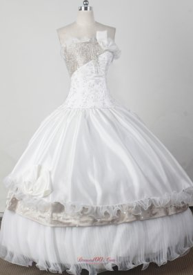 white strapless child pageant dresses with Beading