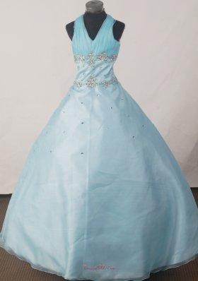 Brand New Halter Floor-length Pageant Dresses A-line