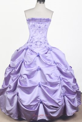 Lilac Embroidery Pick ups Little Girl Pageant Dress