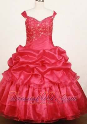 Off Shoulder Plus Size Pageant Dresses Carmine Red Applique