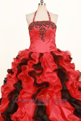 Plus Size Halter Pageant Dresses Ruffles for Sweet Fifteen
